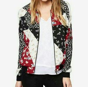 NWT Patchwork bomber jacket